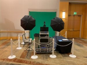 Pictures Set Up Green Screen Open Air Photo Booth